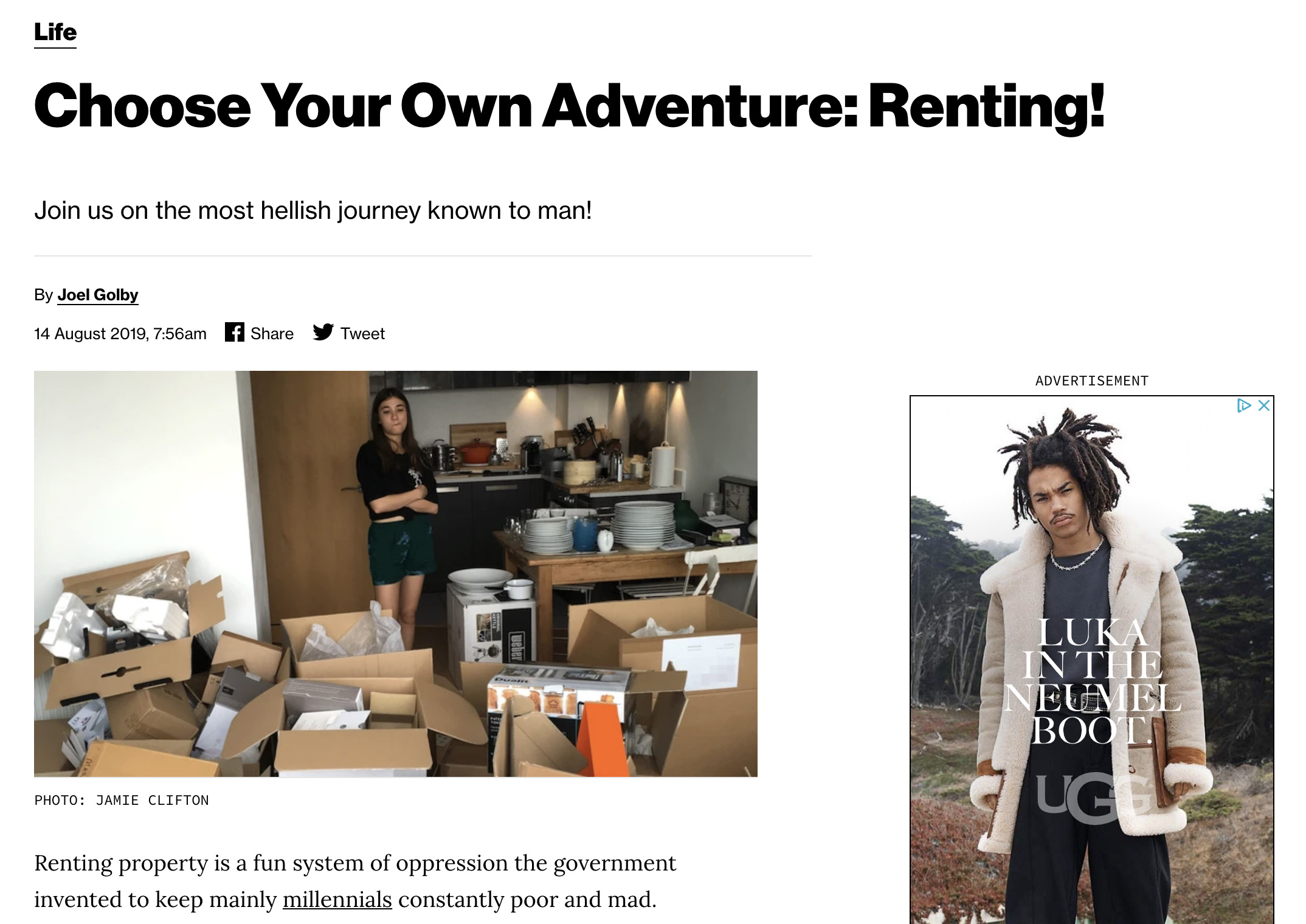 Choose your own journey in renting a living space